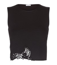 A.L.C. A.L.C Shauna Cut Out Crop Top Female Black