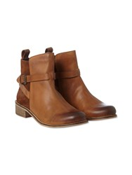 White Stuff Edith Buckle Strap Boot Natural