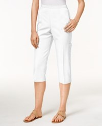 Alfred Dunner Pull On Cropped Pants White
