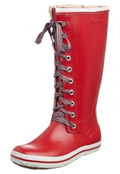 Viking Retro W Striped Laces Wellies Red