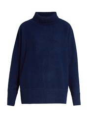 Vanessa Bruno Fanchon Roll Neck Wool Blend Sweater Navy