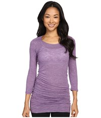 Soybu Lynn Tunic Silver Plum Women's Blouse Purple
