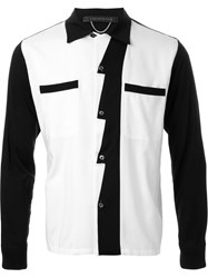 Christian Dada Scalloped Front Contrast Detail Shirt White