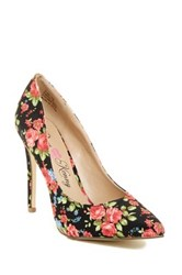 Penny Loves Kenny Opus Floral Pointy Toe Pump Black