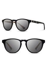 Men's Shwood 'Francis Pendleton' 48Mm Polarized Sunglasses Black Turquoise Serape Grey