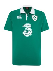 Canterbury Of New Zealand Ireland Home Classic Ss Rugby Shirt Green