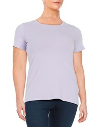 Lord And Taylor Plus Knit Crewneck Tee African Violet
