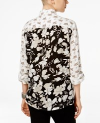 Styleandco. Style Co. Floral Print Button Down Shirt Only At Macy's Drawn Bouquet