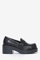Nasty Gal Jeffrey Campbell Preston Leather Loafer