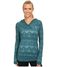 Woolrich Ricketts Glen Burnout Hoodie Mineral Blue Women's Sweatshirt