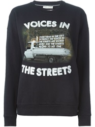 Each X Other Embroidered Sweatshirt Black