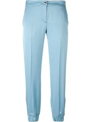 Alexander Mcqueen Cropped Trousers Blue