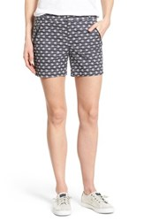 Caslon Women's 'Addison' Zip Pocket Shorts Grey Ivory Arrow Print