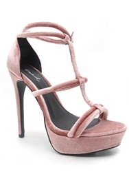 Qupid Avalon Strappy Platform Sandal Blush