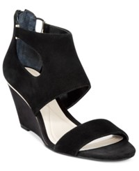 Alfani Women's Giah Wedge Sandals Only At Macy's Women's Shoes Black