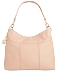 Tommy Hilfiger Th Signature Leather Small Hobo Nude