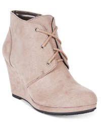 Styleandco. Style Co. Alaisi Lace Up Wedge Booties Only At Macy's Women's Shoes Grey