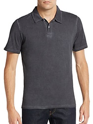 Saks Fifth Avenue Blue Slim Fit Cotton Polo Shirt