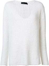 Calvin Klein Collection Ribbed V Neck Jumper Nude And Neutrals