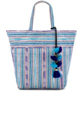 Jadetribe Samui Stripe Tote Blue