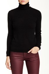 Sofia Cashmere Long Sleeve Turtleneck Cashmere Sweater Black