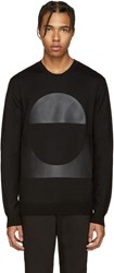 Mcq By Alexander Mcqueen Black Geometric Patch Pullover