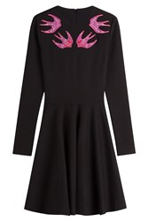 Mcq By Alexander Mcqueen Dress With Beaded Sparrow Embellishment Black