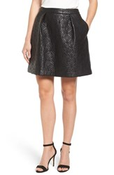 Halogenr Women's Halogen Quilted Faux Leather Miniskirt