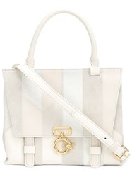 Derek Lam 10 Crosby 'Mini Ave A' Top Handle Satchel White