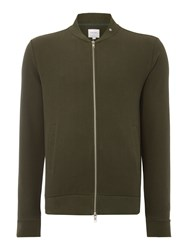 Peter Werth Men's Hustler Textured Jersey Zip Bomber Olive