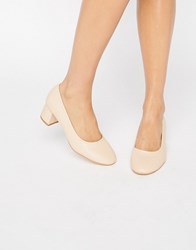 Truffle Collection Mid Heel Glove Shoe Nude Pu Beige