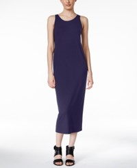 Eileen Fisher Jersey Scoop Neck Midi Dress Midnight A Macy's Exclusive