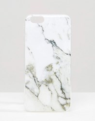 Signature Marble Effect Iphone 6 Case White