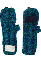Marc By Marc Jacobs Boyfriend Knitted Merino Wool Mittens