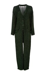 Apiece Apart Vistas Lurex Jumpsuit Dark Green