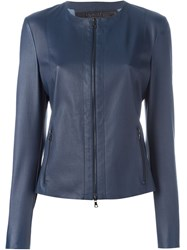 Drome Zip Cropped Jacket Blue