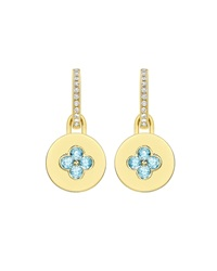 Domino Blue Topaz Four Stone Earrings In 18K Yellow Gold Kiki Mcdonough