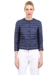 Add Quilted Nylon Down Jacket Midnight Blue