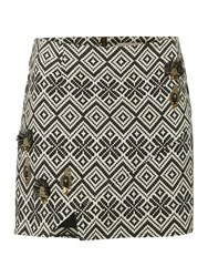 Label Lab Tribal Skirt Black White
