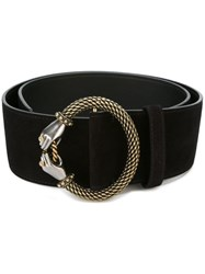 Lanvin Embellished Hands Waist Belt Black