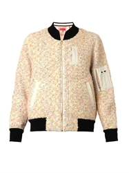 Coohem Vimar Knitted Tweed Bomber Jacket