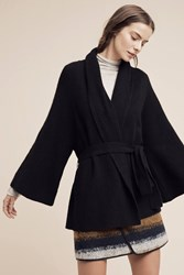 Anthropologie London Cashmere Wrap Cardigan Black