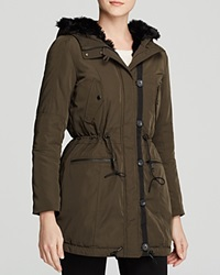 Marc New York Dee Parka With Faux Fur Lining Olive