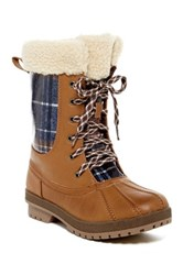 London Fog Swanley Faux Shearling Cold Weather Boot Brown