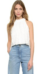 Line And Dot Promenade Crop Top White