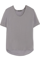 James Perse Chiffon T Shirt Gray