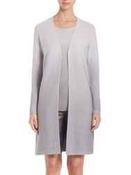 Lafayette 148 New York Sequined Silk Blend Cardigan Sterling
