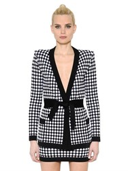 Balmain Diamond Jacquard Knit Jacket