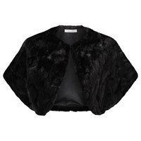 Jacques Vert Faux Fur Shrug Black