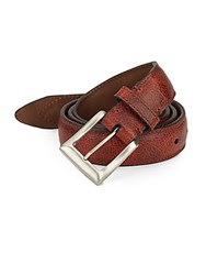 Will Leather Goods Trapunto Leather Belt Cognac
